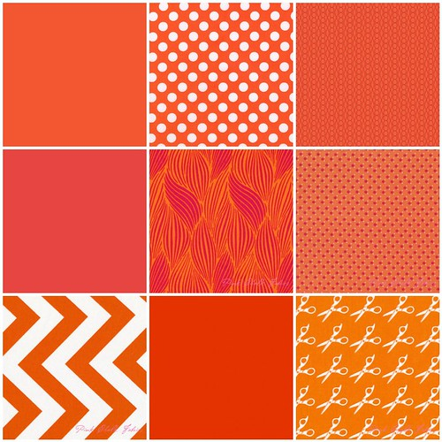 Tangerine Tango fabrics