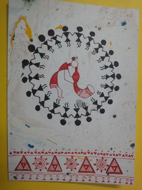 Warli Inspired New year card 1