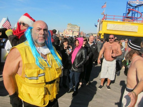 Coney Island Polar Bear Club New Year's Day Swim 2012: On the boardwalk