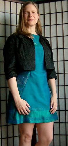 Silk dress with jacket