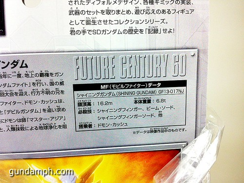 SD Archive Shining Gundam Unboxing Review (8)