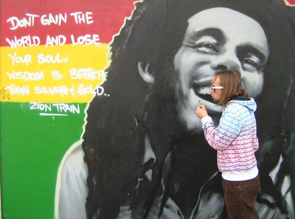 Don t lose your soul street art charles thomy media for Bob marley mural san francisco