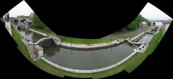 Rideau Canal locks at Ottawa