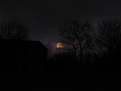 The moon, setting this morning