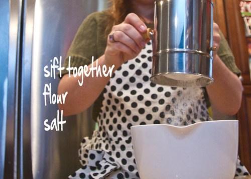 sift together flour and salt