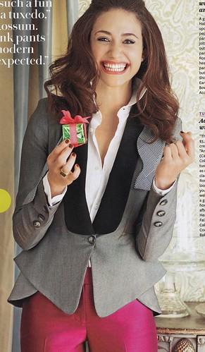 Black Halo Tuxedo Jacket as seen in O magazine Dec. 2011