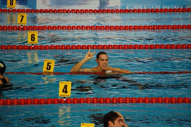 Duboscq after winning the Rijeka 2008 men's 200 breast