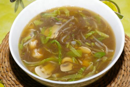 Vegetable, prawn and soba noodle soup by La belle dame sans souci