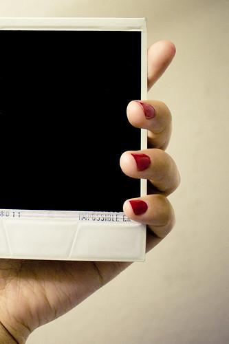 backside of a polaroid
