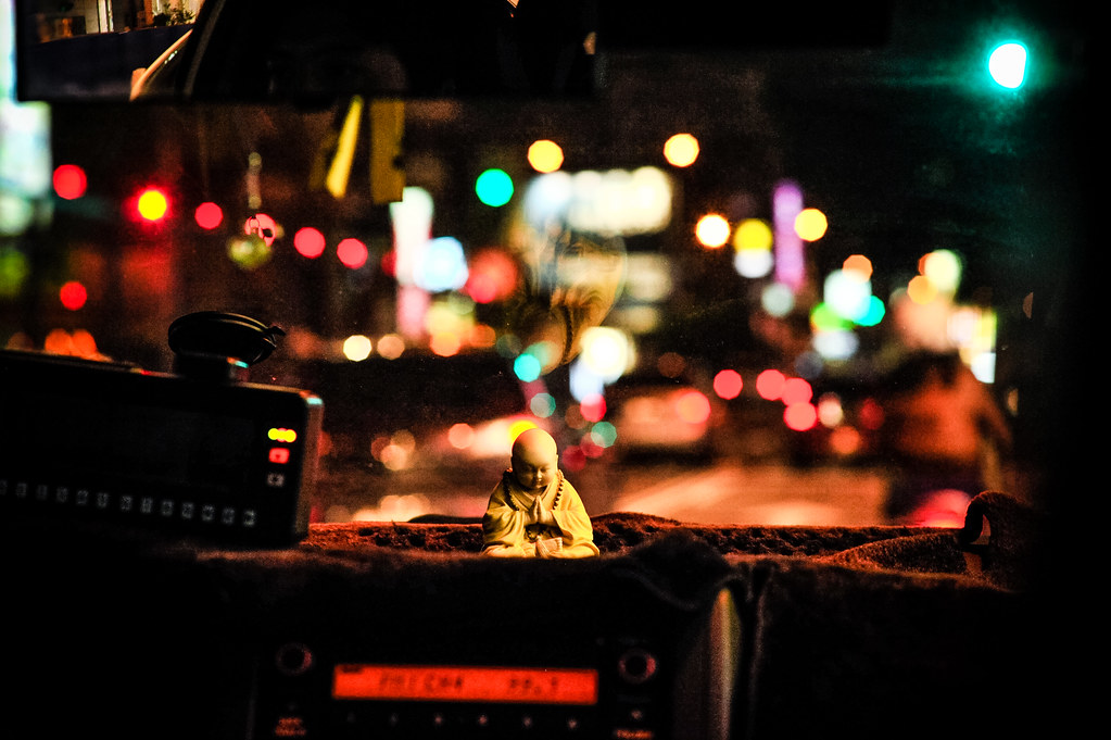Goodnight from the Cab Buddha | Nikon D700 85mm F5 1/125 ISO 3200