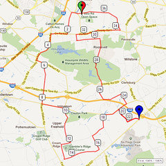 16. Bike Route Map. Etra Lake Park, Hightstown, NJ