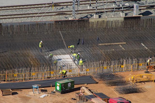 Trabajos en losa entre los dos puentes - 30-01-12