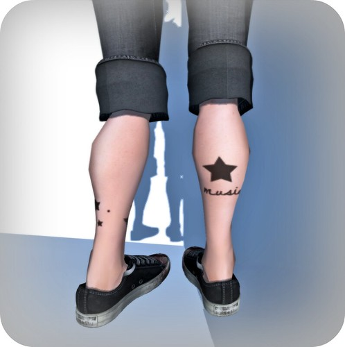 give  up - leg tat