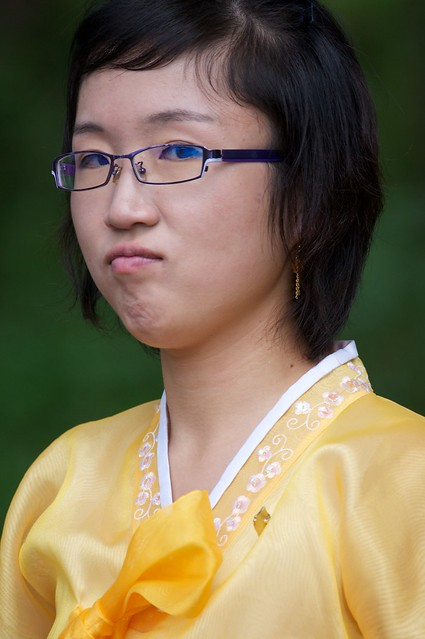 North Korean Girl Pouting