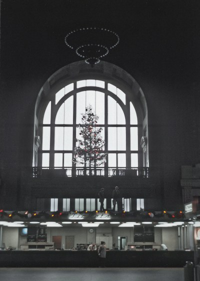 Christmas time at Kansas City, MO. Union Station, December 16, 1970