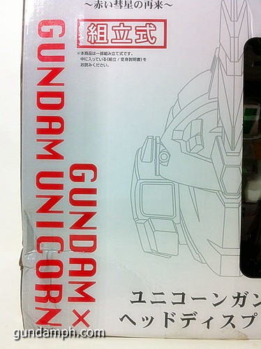 Banpresto Gundam Unicorn Head Display  Unboxing  Review (8)