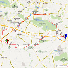 08. Bike Route Map. Hamilton Area YMCA, Crosswicks, NJ