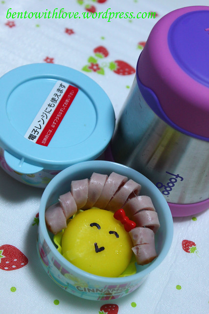 Curly-haired Girl Bento
