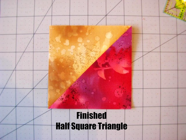 Finished Half Square Triangle