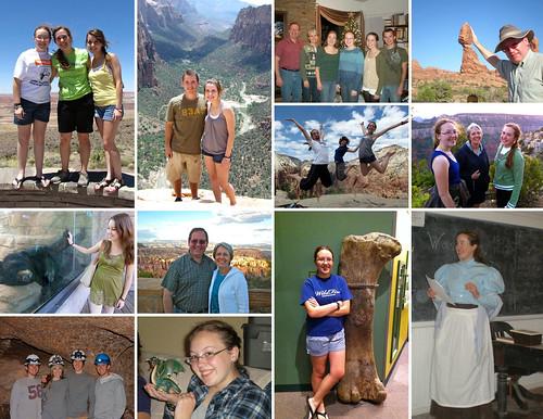 Family calendar collage