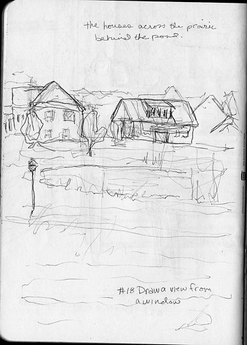Sketchbook Project/EDM #18 Draw a view from a window