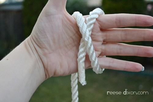 Rope Bracelet Tutorial Step 2