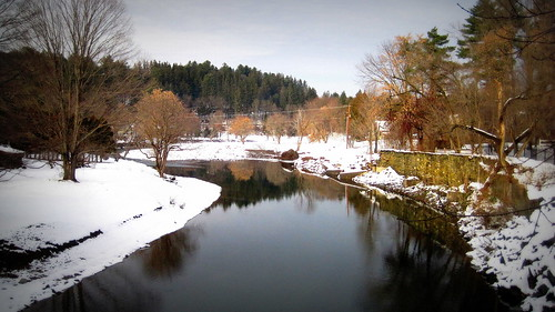 View from covered bridge