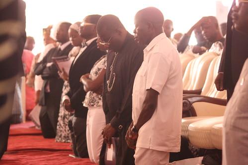President Goodluck Jonathan & Gov. Adams Oshimole @ His Wife Clara Oshiomole's Funeral by Jujufilms