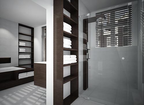 badkamer inrichting penthouse | Fred Tokkie