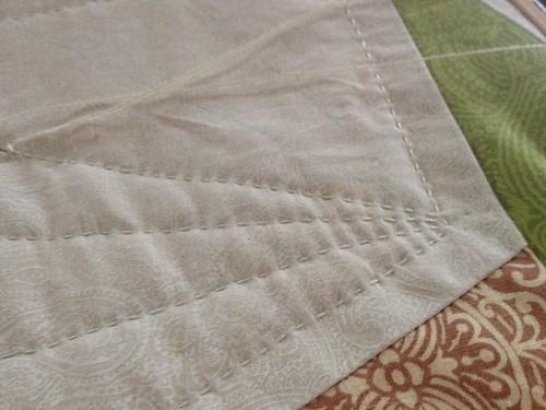 Wedding Quilt Hand Quilting Detail