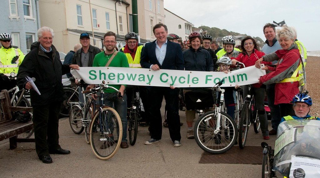 Cycle Shepway members with Damian Collins MP
