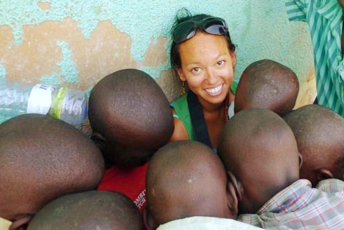 Heather at Les Enfants de Dieu in Kigali, Rwanda. Volunteering Abroad.