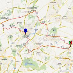 16. Bike Route Map. Cranbury NJ
