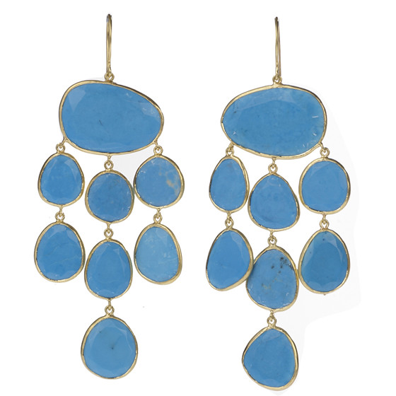 Turquoise Jellyfish Earrings