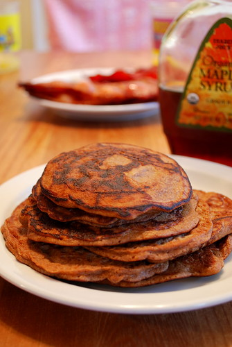 cocoa coconut pancakes