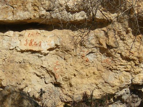 Pintada 1841-2 a Pena-roja. Carlisme.