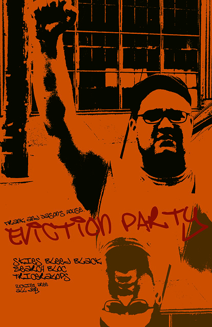 Eviction Party - Skies Bleed Black Flyer