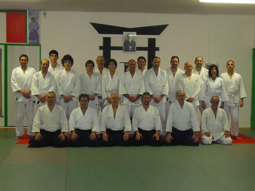 Training at Aikikai Biella dojo