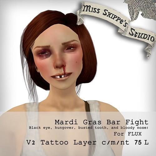 Mardi Gras Bar Fight for FLUX
