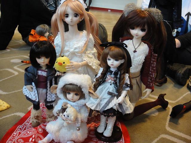 Pino, Mélisande, Delilah, Lareine and Nono