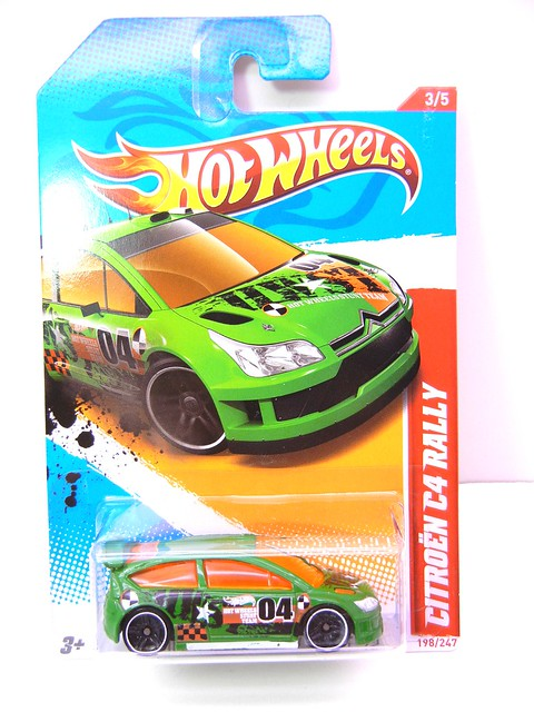 hot wheels citroen c4 rally green (1)