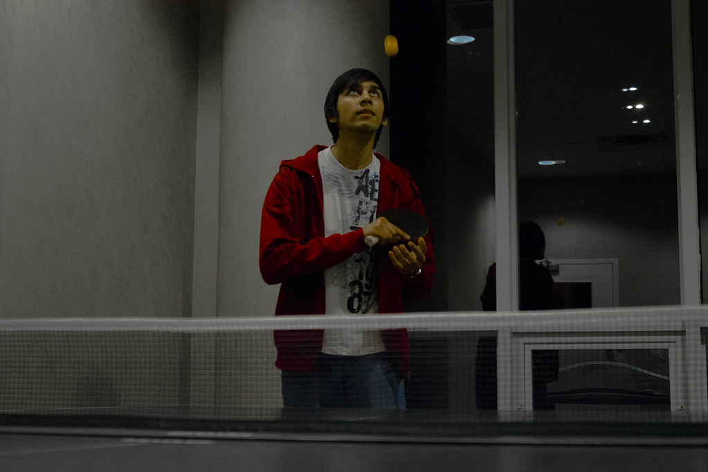 Self Potrait - table tennis