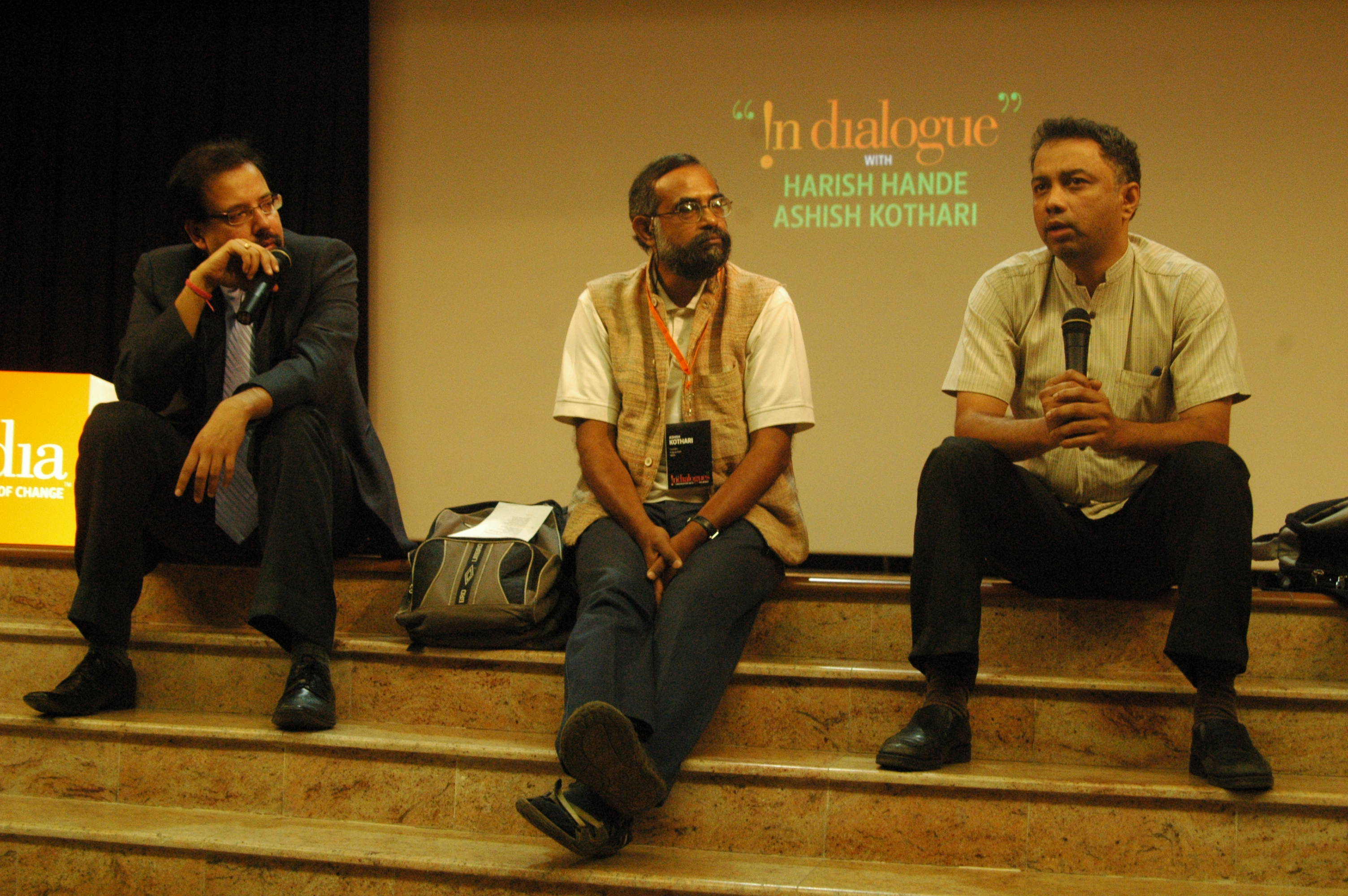 Harish Hande and Ashish Kothari @ Indialogues