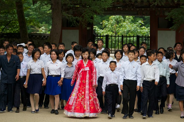 North Korean Tour at Pohyon Buddhist Temple