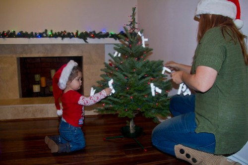 Decorating the Annie Tree