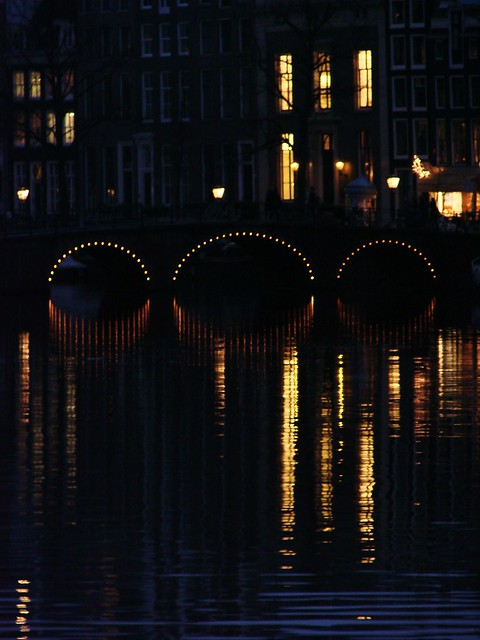 Amsterdam Bridge at Night