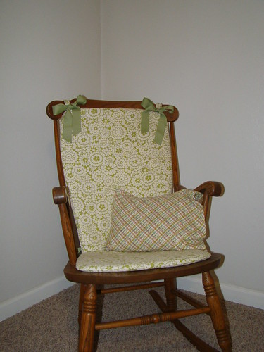 Our new rocking chair for the baby room.
