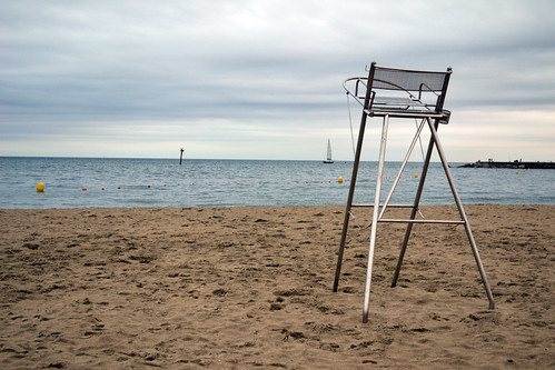 Lifeguard Chair at Barcelona Beach by Luke A. Bunker