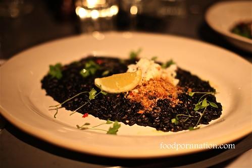 Crab & squid ink risotto @ Jaime's Italian Sydney