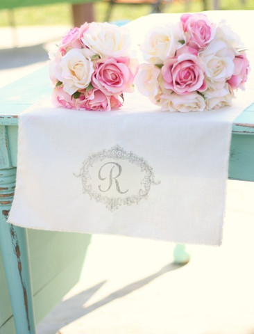 "Rustic Cotton 16"" wide x 36"" long  Personalised Table Runners"